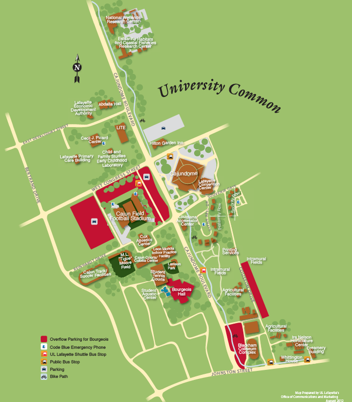 UL Rec Sports parking map